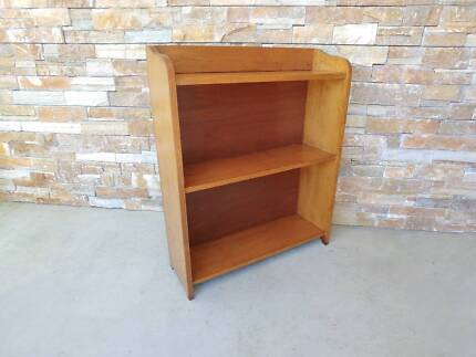 Mid Century Solid timber bookcase shelves sideboard vintage retro