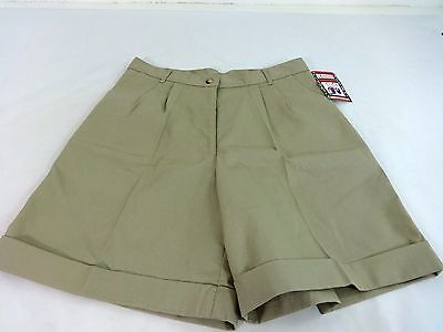 NWT DENNIS GIRLS SCHOOL UNIFORM SHORTS COTTON KHAKI PLEATED W ...