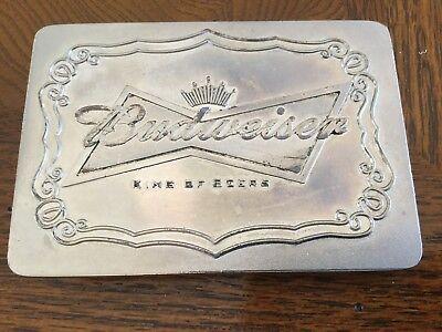 Budweiser Buckle, King of Beers Logo, Post & Loop, USA, Classic