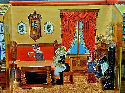Puppenhaus zum Ausklappen Gründerzeit von 1889 Mini Reprint Meggendorfer
