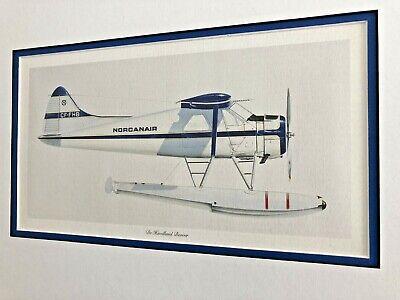 De Havilland Beaver Aircraft Float Plane Illustration - Norcanair De Havilland Aircraft