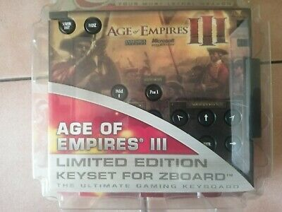 Steelseries / Ideazon Age of Empires 3 Limited Ed Gaming Keyset for Zboard - NEW