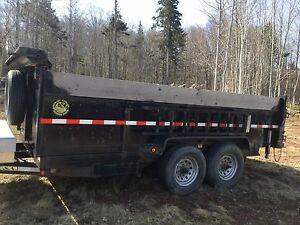 2012 Gatormade 16' dump trailer for sale