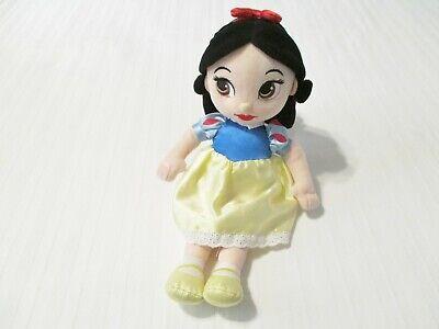 """12"""" Disney Store Snow White Toddler Cloth Doll Plush Toy EUC"""