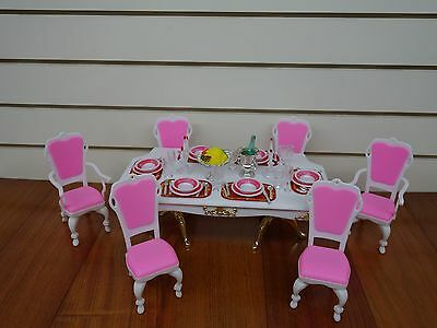 "Gloria, 11.5"" Barbie size House Furniture/(2312) MFL Grand Dining Room"