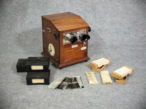 LE TAXIPHOTE - France 1910 - stereo glass slide viewer - original Mint Condition