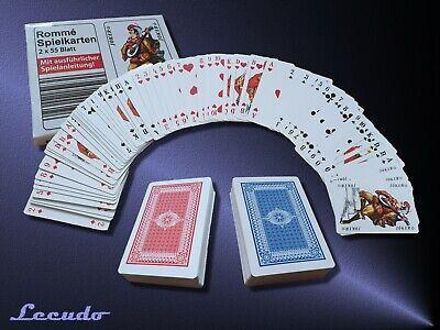 Romme Spielkarten Karten Set 2x 55 Französisches Blatt Canasta Poker Bridge