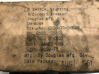 WW2. G503  WILLYS-FORD LIGHTING SWITCH. ROTARY  Nos.