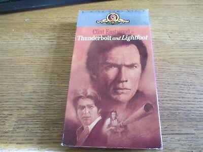 Thunderbolt and Lightfoot (VHS) Clint Eastwood, Jeff Bridges 1988 MGM/UA tape!