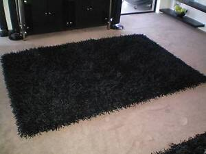 Black Shaggy Rug Freedom Cost $499 Sell $180 great looking Ocean Reef Joondalup Area Preview