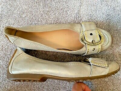 Kennel & Schmenger, Gold Colour, Leather, Studded Buckle Pumps, (To Fit UK6)