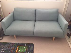 Turquoise 2 seater couch Fairlight Manly Area Preview