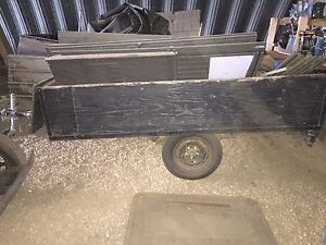 Black utility trailer 8ft long 6ft wide