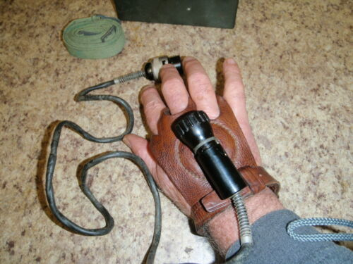 Soviet hand light, with battery box and sling