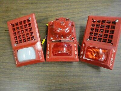 Lot Of Three Space Age Electronics Fire Alarm Bellspeakerhornstrobe Units