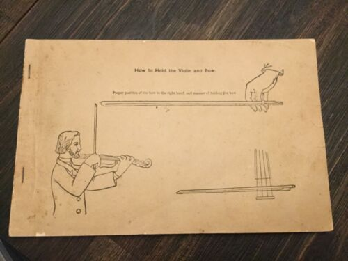 Vintage Antique Violin Instruction Booklet NATIONAL MUSIC COMPANY 1889