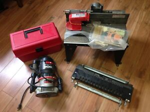 Craftsman 800 Router, Router Table, Dovetail Jig & Several Bits