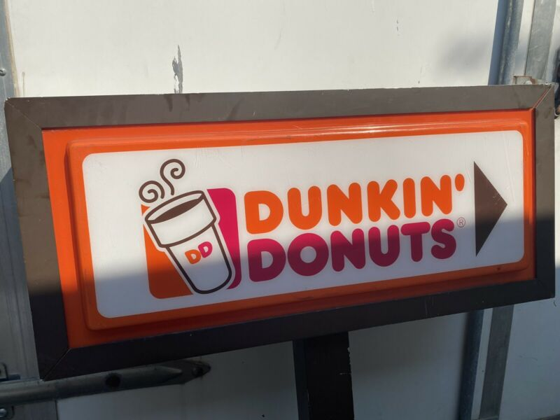 dunkin donuts sign drive thru double sided  with switch Local Pick Up With Post