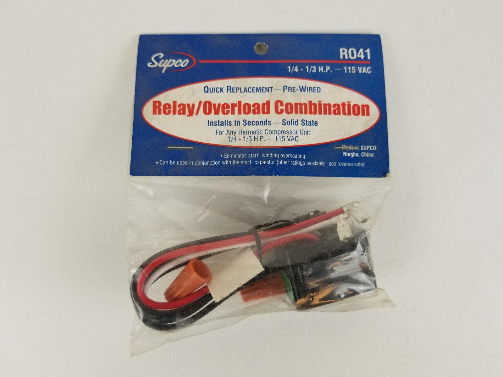 $_32 supco r041 relay overload combination 115vac ebay