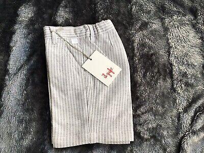 Il gufo boys shorts (Bermuda) Light Grey Stripe