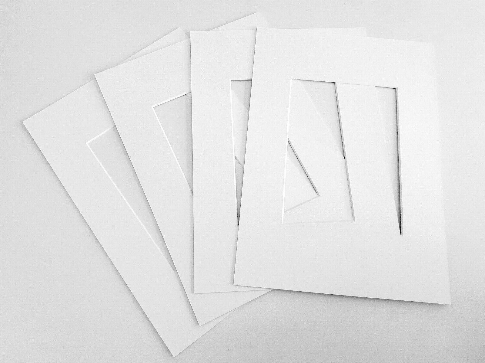 Passepartout DIN A4 21x30cm Schrägschnittpassepartout | weiß warmweiß PH Neutral