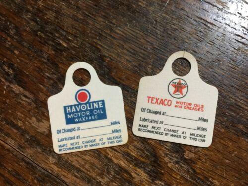 Vintage Original Model T and A Texaco Oil Tags NOS Havoline