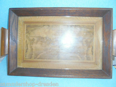 25319 Tablett 1925 Art Deco Holz   wood Tray Eiche massiv Furnier 35x20cm