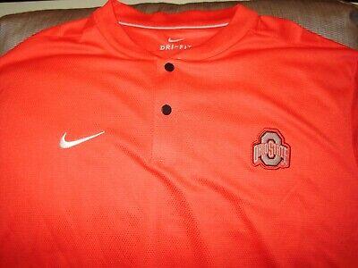 Ohio State Buckeyes NIKE Dri Fit Elite Red Blade Polo Golf Shirt Men's 2XL ()