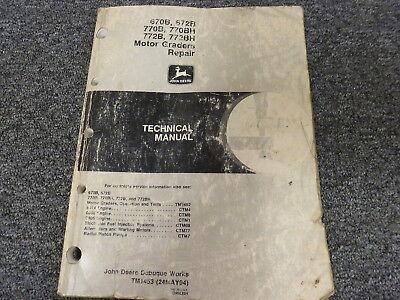 John Deere 670b 672b 770b 772b 770bh 772bh Grader Service Repair Manual Tm1453