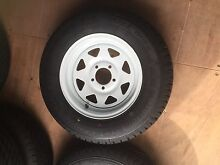 185 x 14 (8 ply) light truck tyres on white rims (Brand New) Rocklea Brisbane South West Preview