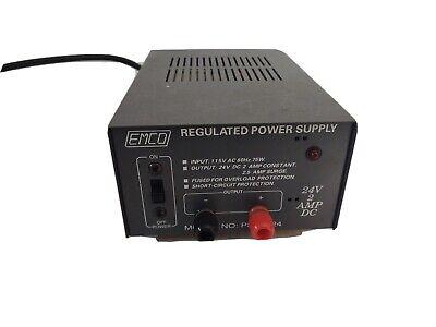 Emco 24v 2a Heavy Duty Dc Regulated Power Supply