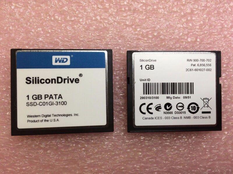 SSD-C01GI-3100 Western Digital Solid State Drive Compact Flash PATA 1GB 1 UNIT