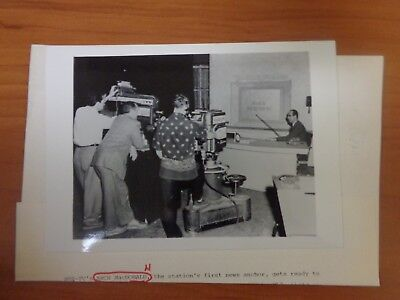 Vintage Glossy Press Photo Wbz Tv Channel 4 News Anchor Arch Macdonald