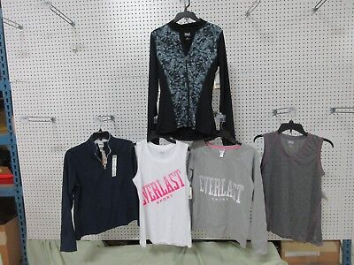 5 Everlast Womens Athletic Clothes Tank Top Jacket Workout Fleece Small SM Lot