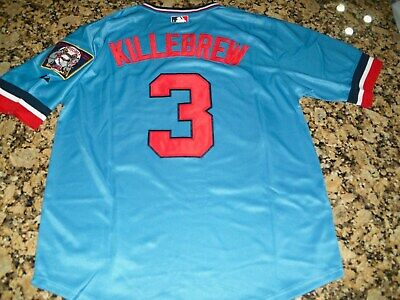 New!! Harmon Killebrew Minnesota Twins #3 Retro Blue Pull-Over Baseball Jersey M