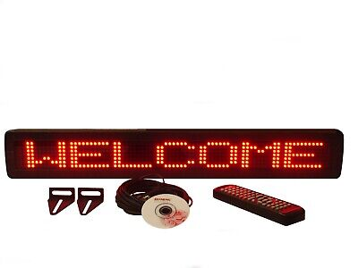 Indoor Red Led Programmable Scrolling Message Display Sign 26x4 New
