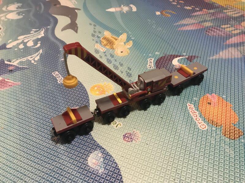 Thomas The Tank Engine Rocky The Train Wooden Rare Toys