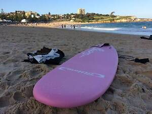 Pink 7ft Surfboard / Package Deal / New Sydney City Inner Sydney Preview
