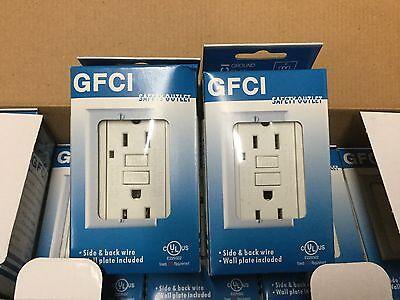 Gfi Gfci Outlet - GFI GFCI OUTLET 15 AMP 120 V   WHITE COLOR, 1 PACK