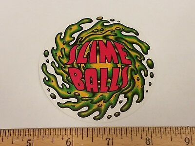 Vtg 90S Reissue Santa Cruz Slime Balls Speed Wheels Nos Skateboard Sticker Sma