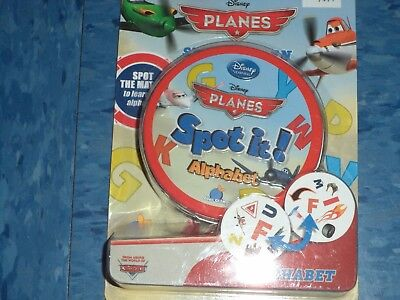 Disney's Planes Spot It! Alphabet Learning Educational Board Game New! - Spot It Alphabet