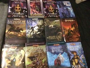 Dragonlance and forgotten realms hardcover books