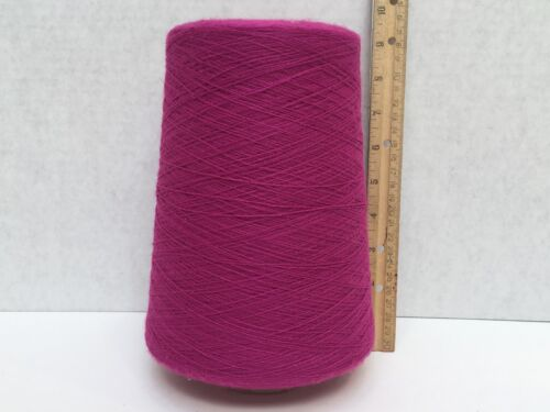 1.12 Lbs Cone Spool Yarn Fuscia Color: EM135, 2/35 x 2/28 100% Acrylic