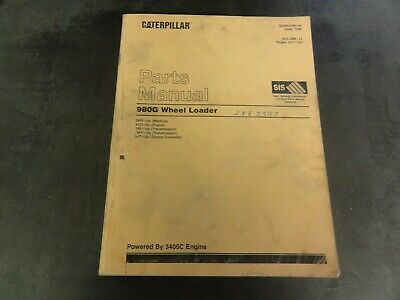 Caterpillar Cat 980g Wheel Loader Parts Manual Sebp2395-04  Volume Ii