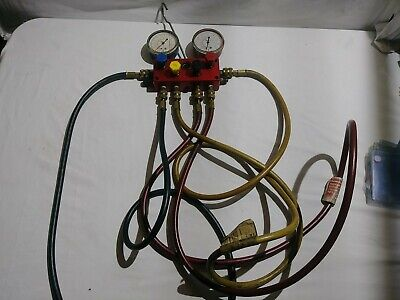 Robinair Test And Charging Manifold Gauges With 72 Inch Hoses