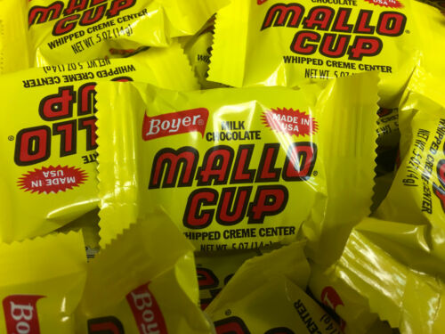 Boyer Mallo Cups - TWO POUNDS - Individually-Wrapped Bulk Candy FREE SHIPPING