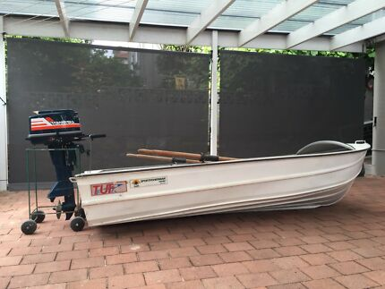 12ft Tuf tinny and Tohatsu outboard for sale