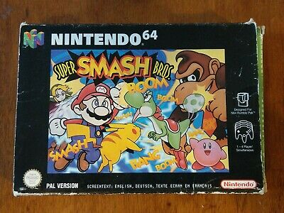 Super Smash Bros N64 Boxed - Nintendo 64 PAL UK