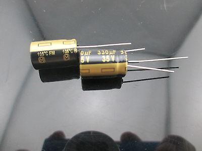 4pcs Japan Panasonic Fm 330uf 35v 330mfd Impedance Electrolytic Capacitors