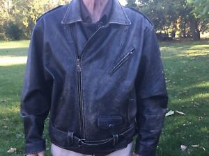 Very Rugged Men's XL Leather Motorcycle Jacket